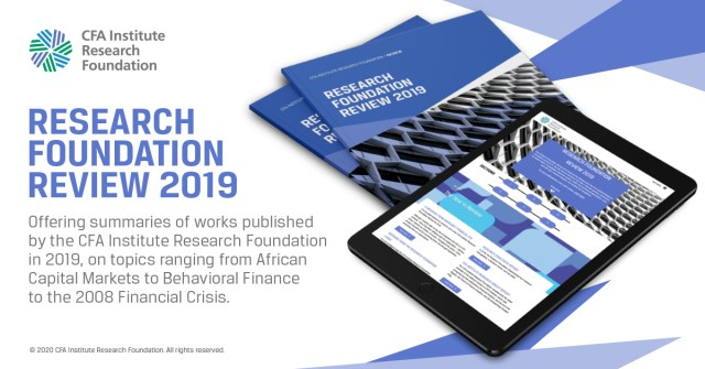 In-house ad for Research Foundation Review 2019