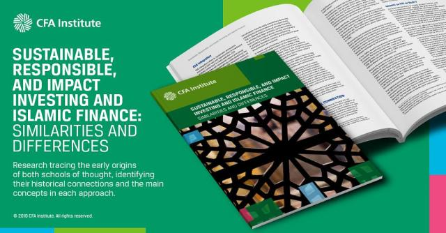 Ad for Sustainable, Responsible, and Impact Investing and Islamic Finance: Similarities and Differences