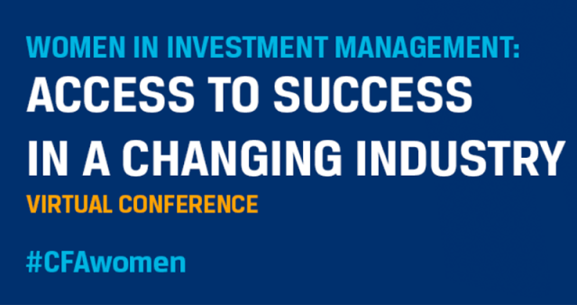 Tile ad for Women in Investment Management: Access to Success in a Changing Industry virtual conference