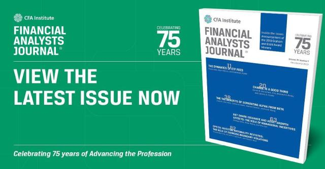 Financial Analysts Journal Ad