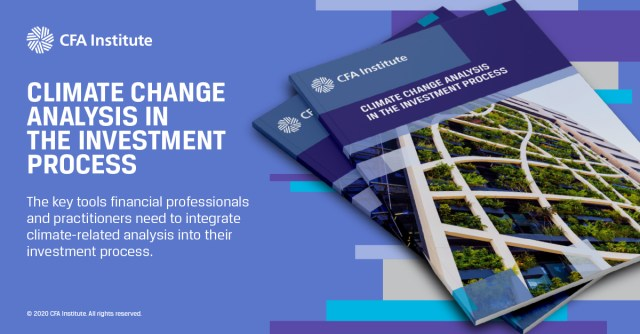 Ad tile for Climate Change Analysis in the Investment Process