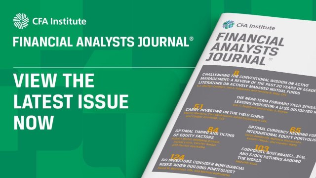Financial Analysts Journal Latest Issue Graphic